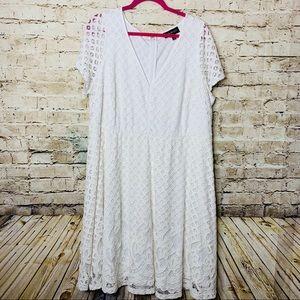 Lane Bryant White Lace A line Dress sz 20